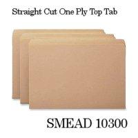 マニラフォルダ【レターサイズ、ストレートカットタブ】SMEAD NO.10300【100枚入りBOX】