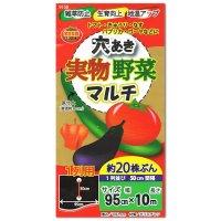【穴あき】実物野菜マルチ【1条用】(95cm×10m)穴の間隔50cm・約20株用【9150】