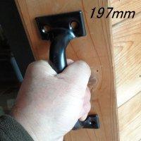 【STANLEY】ドアハンドル(ドア引手)【ブラック】物置小屋やゲートの引き手に最適