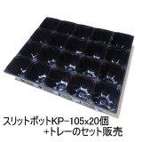 スリットポット(KP-105)105mm・角型3.5寸(ブラック)【バラ売り+専用トレー】