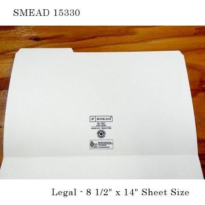 マニラフォルダ【リーガルサイズ、1/3カットタブアソート】SMEAD NO.15330