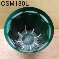 スリットポット|6号鉢ロング|CSM-180L|外径180mm・容量3.5L(モスグリーン)【10個入り】
