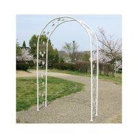 バラアーチアイビー(ホワイト)|幅135×奥行40×高さ200cm|組立式バラアーチ