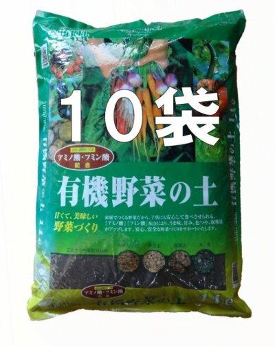 有機野菜の土