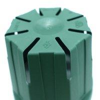 スリットポット 4号鉢 CSM-120【10個入り】モスグリーン|外径12cmx底径 8cmx高さ 10cm|容量 約0.6L