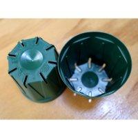 スリットポット 2.5号鉢 CSM-75【100個】モスグリーン|外径 7.5cmx底径 5.5cmx高さ 6.7cm|容量 約0.2L