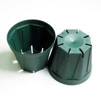 スリットポット 3.5号鉢 CSM-105【100入り】モスグリーン|外径10.5cmx底径 7.5cmx高さ 9.0cm|容量 約0.5L