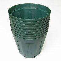 スリットポット 3.5号鉢 CSM-105【10入り】モスグリーン|外径10.5cmx底径 7.5cmx高さ 9.0cm|容量 約0.5L