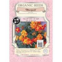 【有機種子・固定種】フレンチマリーゴールド ダークオレンジ【20ml】Tagetes